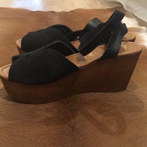 ee3d7ffcd18 Seychelles Shoes - Seychelles Laugh More Black Platform Sandals 11